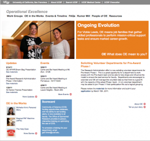 UCSF Operational Excellence